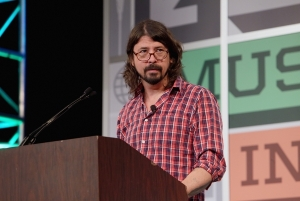 """I hope I still look like a rock star,"" Dave Grohl gives the keynote address during the South By Southwest Music Festival at the Austin Convention Center on March 14, 2013 in Austin, Texas.pic by Gary Miller/FilmMagic"
