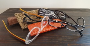 A few of my reading glasses--no, I haven't lost any, just, as a pet/house sitter, I keep spare pairs in a few homes. So these are just the ones on hand at the moment.