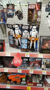 When I was kid I ran into The Kmart's toy section to part with my hard earned allowance and cash on a new Star Wars toy. I still go straight to the Star Wars toy section 40 years later--nothing changes, ever! I just don't buy anything. But it's like I can't help myself, I have to go to see the Star Wars toys!